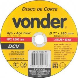 DISCO CORTE 180X1,6X22,23 DCV 1240700160     VONDER