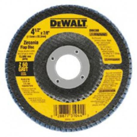 """DISCO FLAP 4 1/2"""" X 7/8"""" GR 60  DEWALT"""
