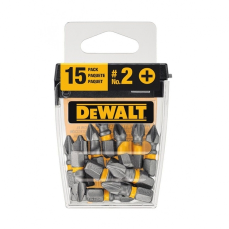 PONTEIRA PHILLIPS BOX 15 PÇS DWA1PH2-15 - DEWALT