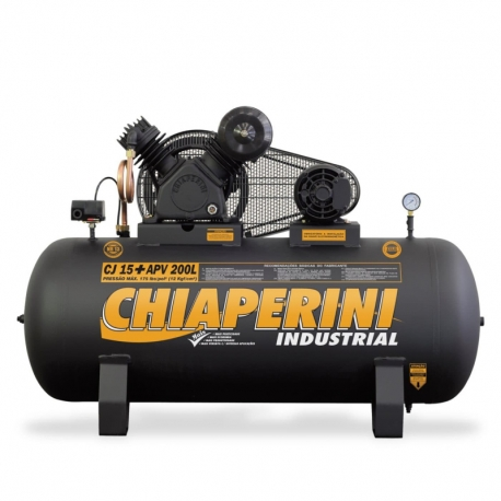 COMPRESSOR AR TOP15MP3V RCH 200L C/MM 3H 110/220V IP21 9810     CHIAPERINI
