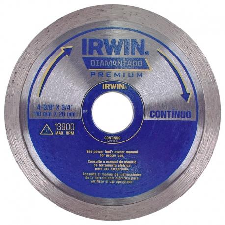 DISCO DIAMANTADO LISO PREMIUM 110X20MM IW2144 - IRWIN
