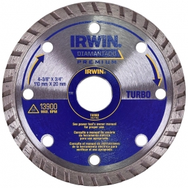 DISCO DIAMANTADO TURBO PREMIUM 110X20MM IW2146 - IRWIN