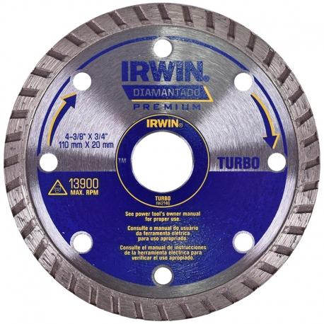 DISCO DIAMANTADO TURBO PREMIUM 110X20MM IW2146 - IRWIN