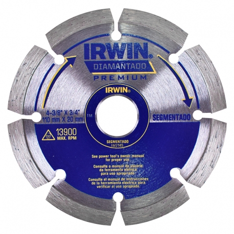DISCO DIAMANTADO SEGMENTADO PREMIUM 110X20MM IW2145 - IRWIN