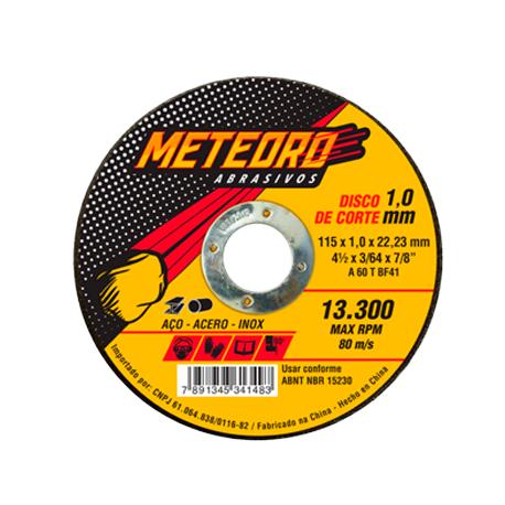 DISCO DE CORTE T41 115X1,0X22,23 METEORO 66252838418     NORTON