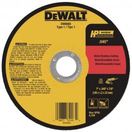 """DISCO DE CORTE INOX 7""""x1  6x7/8 DW8065-AR     DEWALT"""