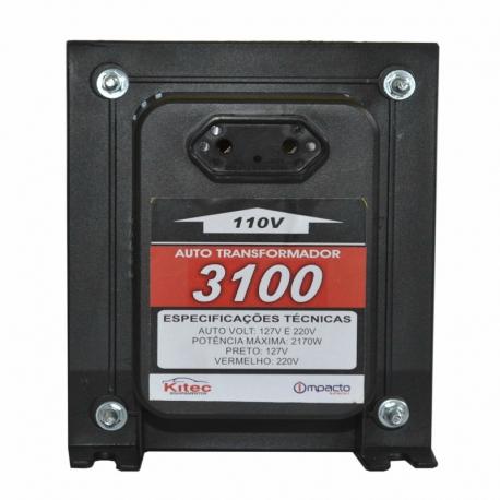 Auto transformador tripolar 3100 vat c/fio kitec