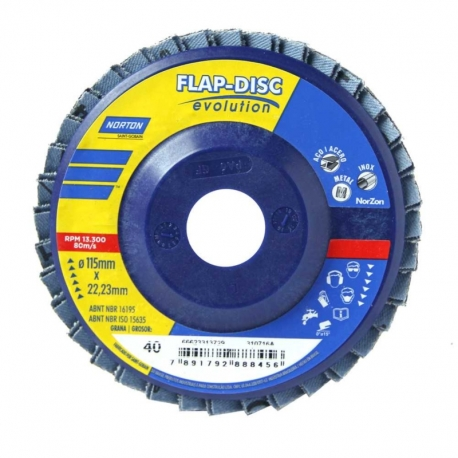 Flap disco evolution r822 115x22 p50 66623313730 norton