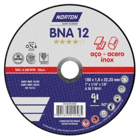 Disco de corte 180x1,6x22,23 azul bna12 66252843688 norton