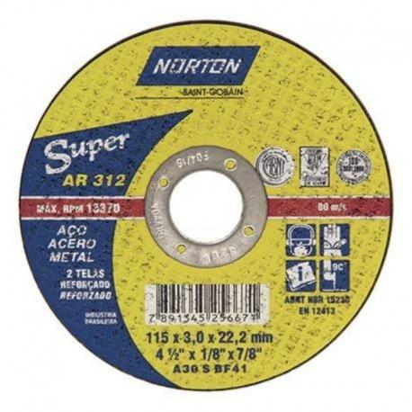 Disco de corte 115x3,0x22,23 super ar312 66252842856 norton