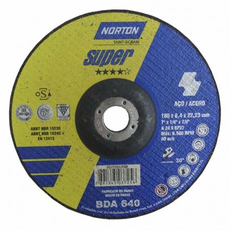 Disco de desbaste t27 180x6,4x22,23 super bda640 norton