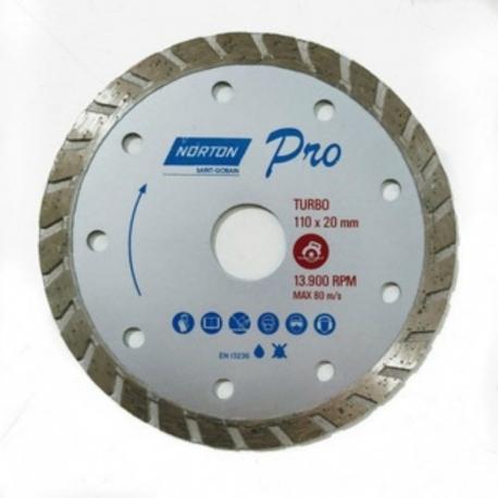 Disco diamantado 110x20 pro turbo 70184624362      norton