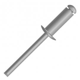Rebite de repuxo aluminio 3,2x12 pol 451312000     ciser