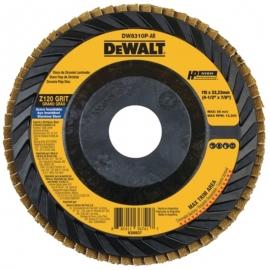 """Flap disco plastico z120 4 1/2"""" x 7/8"""" dw8310p-ar dewalt"""